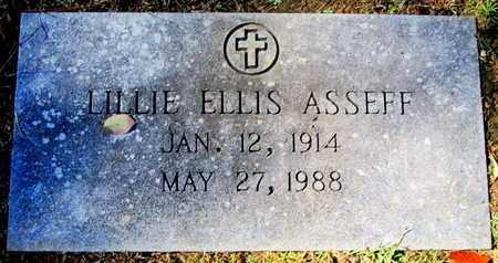 ELLIS ASSEFF, LILLIE - Caddo County, Louisiana   LILLIE ELLIS ASSEFF - Louisiana Gravestone Photos