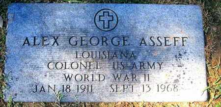 ASSEFF, ALEX GEORGE (VETERAN WWII) - Caddo County, Louisiana | ALEX GEORGE (VETERAN WWII) ASSEFF - Louisiana Gravestone Photos