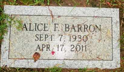 FORY BARRON, ALICE ANN - Caddo County, Louisiana   ALICE ANN FORY BARRON - Louisiana Gravestone Photos