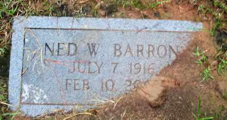 BARRON, NED W - Caddo County, Louisiana | NED W BARRON - Louisiana Gravestone Photos