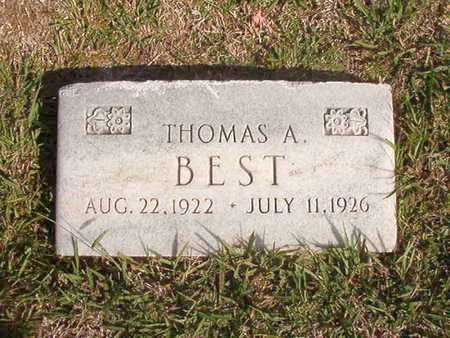 BEST, THOMAS A - Caddo County, Louisiana | THOMAS A BEST - Louisiana Gravestone Photos