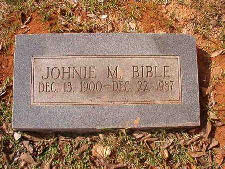 BIBLE, JOHNIE M - Caddo County, Louisiana | JOHNIE M BIBLE - Louisiana Gravestone Photos