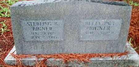 BIGNER, STERLING B - Caddo County, Louisiana | STERLING B BIGNER - Louisiana Gravestone Photos