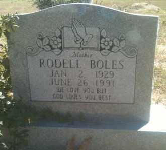 BOLES, RODELL - Caddo County, Louisiana   RODELL BOLES - Louisiana Gravestone Photos