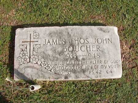 BOUCHER, JAMES THOMAS JOHN - Caddo County, Louisiana | JAMES THOMAS JOHN BOUCHER - Louisiana Gravestone Photos