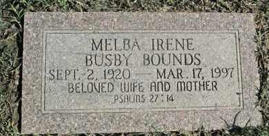 BOUNDS, MELBA IRENE - Caddo County, Louisiana | MELBA IRENE BOUNDS - Louisiana Gravestone Photos
