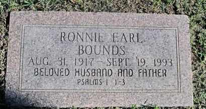 BOUNDS, RONNIE EARL - Caddo County, Louisiana | RONNIE EARL BOUNDS - Louisiana Gravestone Photos
