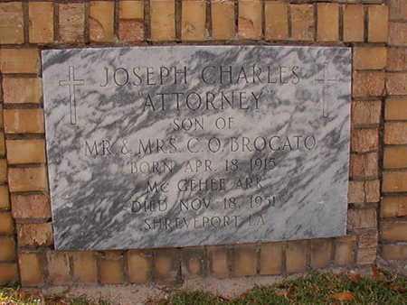 BROCATO, JOSEPH CHARLES - Caddo County, Louisiana | JOSEPH CHARLES BROCATO - Louisiana Gravestone Photos