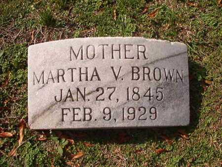 BROWN, MARTHA V - Caddo County, Louisiana | MARTHA V BROWN - Louisiana Gravestone Photos