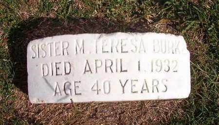 BURK, SISTER M, TERESA - Caddo County, Louisiana | TERESA BURK, SISTER M - Louisiana Gravestone Photos