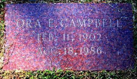 CAMPBELL, ORA E - Caddo County, Louisiana   ORA E CAMPBELL - Louisiana Gravestone Photos