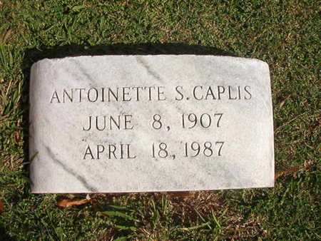 CAPLIS, ANTOINETTE S - Caddo County, Louisiana | ANTOINETTE S CAPLIS - Louisiana Gravestone Photos