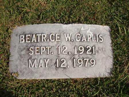 CAPLIS, BEATRICE W - Caddo County, Louisiana | BEATRICE W CAPLIS - Louisiana Gravestone Photos