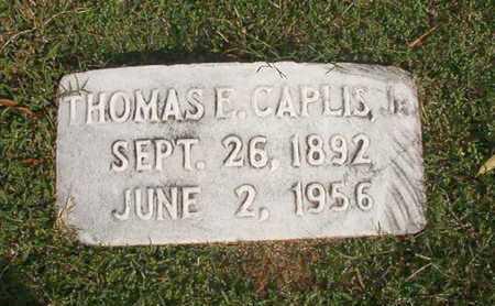 CAPLIS, THOMAS E, JR - Caddo County, Louisiana | THOMAS E, JR CAPLIS - Louisiana Gravestone Photos