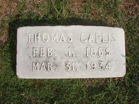 CAPLIS, THOMAS - Caddo County, Louisiana   THOMAS CAPLIS - Louisiana Gravestone Photos