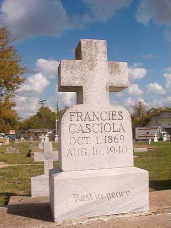 CASCIOLA, FRANCIES - Caddo County, Louisiana | FRANCIES CASCIOLA - Louisiana Gravestone Photos