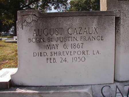 CAZAUX, AUGUST - Caddo County, Louisiana | AUGUST CAZAUX - Louisiana Gravestone Photos