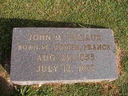 CAZAUX, JOHN M - Caddo County, Louisiana | JOHN M CAZAUX - Louisiana Gravestone Photos