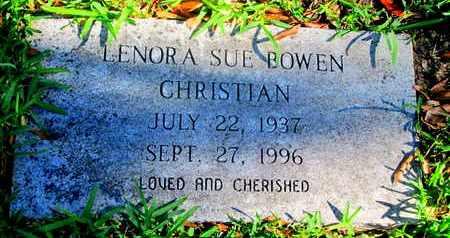 BOWEN CHRISTIAN, LENORA SUE - Caddo County, Louisiana | LENORA SUE BOWEN CHRISTIAN - Louisiana Gravestone Photos