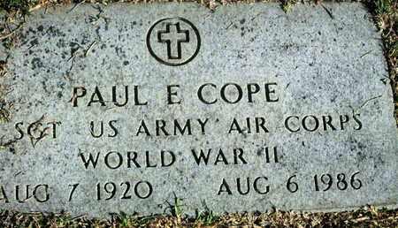 COPE, PAUL E (VETERAN WWII) - Caddo County, Louisiana | PAUL E (VETERAN WWII) COPE - Louisiana Gravestone Photos