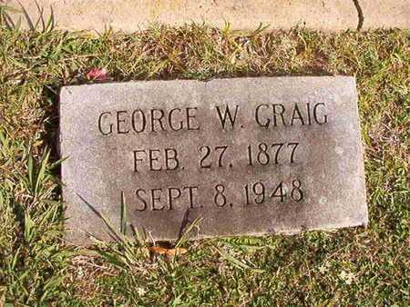CRAIG, GEORGE W - Caddo County, Louisiana | GEORGE W CRAIG - Louisiana Gravestone Photos