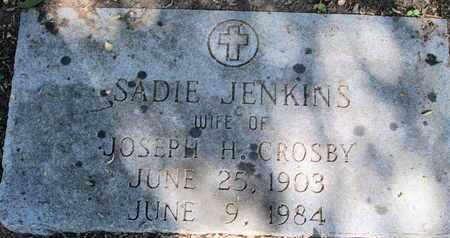 JENKINS CROSBY, SADIE - Caddo County, Louisiana | SADIE JENKINS CROSBY - Louisiana Gravestone Photos