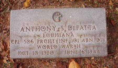 DEFATTA, ANTHONY S (VETERAN WWII) - Caddo County, Louisiana | ANTHONY S (VETERAN WWII) DEFATTA - Louisiana Gravestone Photos