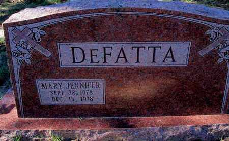 DEFATTA, MARY JENNIFER - Caddo County, Louisiana   MARY JENNIFER DEFATTA - Louisiana Gravestone Photos