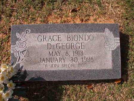 BIONDO DEGEORGE, GRACE - Caddo County, Louisiana | GRACE BIONDO DEGEORGE - Louisiana Gravestone Photos