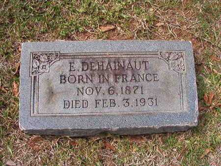 DEHAINAUT, E - Caddo County, Louisiana | E DEHAINAUT - Louisiana Gravestone Photos