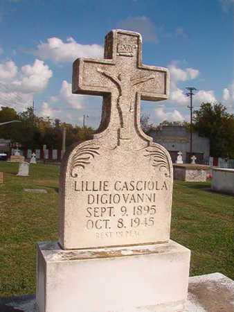 DIGIOVANNI, LILLIE - Caddo County, Louisiana | LILLIE DIGIOVANNI - Louisiana Gravestone Photos