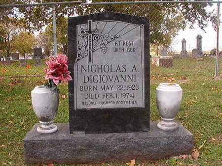 DIGIOVANNI, NICHOLAS A - Caddo County, Louisiana | NICHOLAS A DIGIOVANNI - Louisiana Gravestone Photos