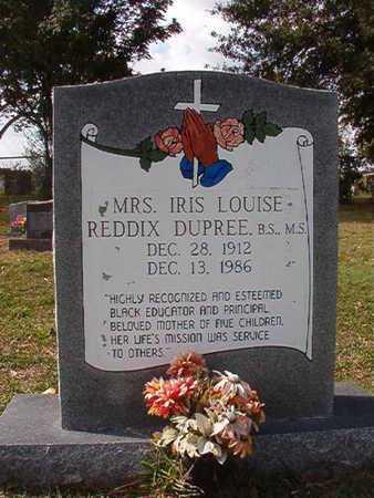 REDDIX DUPREE, IRIS LOUISE - Caddo County, Louisiana | IRIS LOUISE REDDIX DUPREE - Louisiana Gravestone Photos