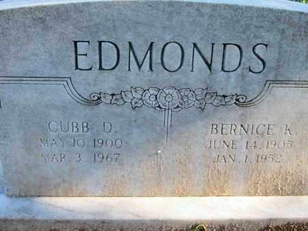 EDMONDS, BERNICE - Caddo County, Louisiana | BERNICE EDMONDS - Louisiana Gravestone Photos