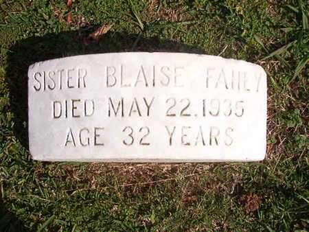 FAHEY, SISTER, BLAISE - Caddo County, Louisiana | BLAISE FAHEY, SISTER - Louisiana Gravestone Photos