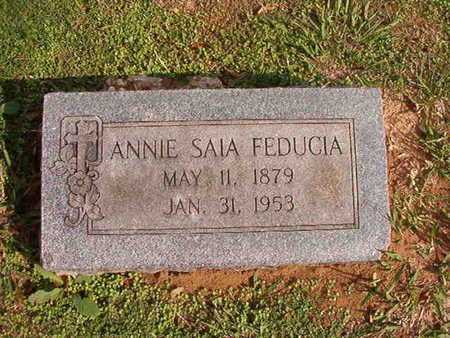 FEDUCIA, ANNIE - Caddo County, Louisiana | ANNIE FEDUCIA - Louisiana Gravestone Photos
