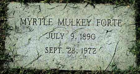 MULKEY FORTE, MYRTLE - Caddo County, Louisiana | MYRTLE MULKEY FORTE - Louisiana Gravestone Photos