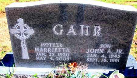GAHR, MARRIETTA - Caddo County, Louisiana | MARRIETTA GAHR - Louisiana Gravestone Photos