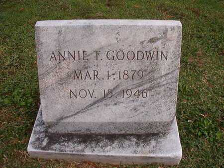 GOODWIN, ANNIE T - Caddo County, Louisiana | ANNIE T GOODWIN - Louisiana Gravestone Photos