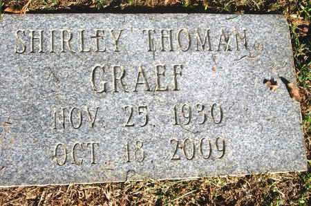 THOMAN GRAEF, SHIRLEY - Caddo County, Louisiana   SHIRLEY THOMAN GRAEF - Louisiana Gravestone Photos