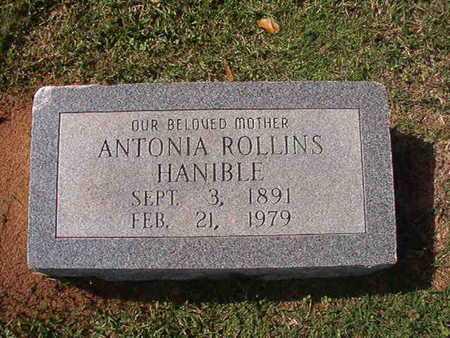 ROLLINS HANIBLE, ANTONIA - Caddo County, Louisiana   ANTONIA ROLLINS HANIBLE - Louisiana Gravestone Photos
