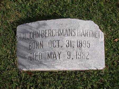 HARTNETT, M JOHN BERCHMANS, SR - Caddo County, Louisiana | M JOHN BERCHMANS, SR HARTNETT - Louisiana Gravestone Photos