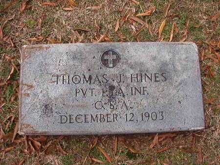 HINES, THOMAS J (VETERAN CSA) - Caddo County, Louisiana | THOMAS J (VETERAN CSA) HINES - Louisiana Gravestone Photos