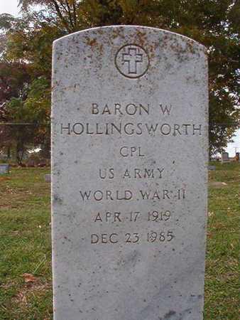 HOLLINGSWORTH, BARON W (VEWTERAN WWII) - Caddo County, Louisiana | BARON W (VEWTERAN WWII) HOLLINGSWORTH - Louisiana Gravestone Photos