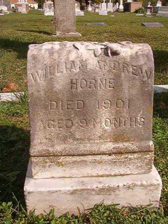HORNE, WILLIAM ANDREW - Caddo County, Louisiana | WILLIAM ANDREW HORNE - Louisiana Gravestone Photos