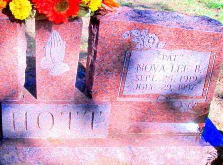 HOTT, NOVA LEE B - Caddo County, Louisiana | NOVA LEE B HOTT - Louisiana Gravestone Photos