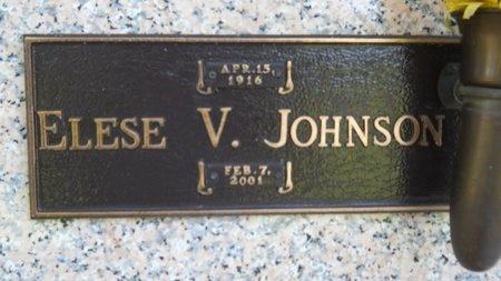 JOHNSON, ELESE V - Caddo County, Louisiana   ELESE V JOHNSON - Louisiana Gravestone Photos