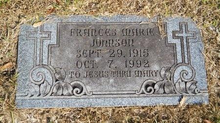 JOHNSON, FRANCES MARIE - Caddo County, Louisiana | FRANCES MARIE JOHNSON - Louisiana Gravestone Photos