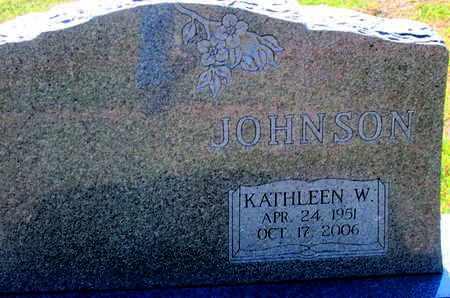 JOHNSON, KATHLEEN W - Caddo County, Louisiana   KATHLEEN W JOHNSON - Louisiana Gravestone Photos