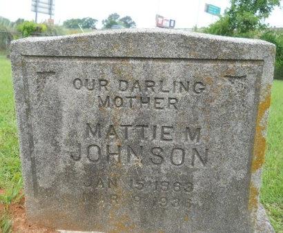 JOHNSON, MATTIE M - Caddo County, Louisiana | MATTIE M JOHNSON - Louisiana Gravestone Photos
